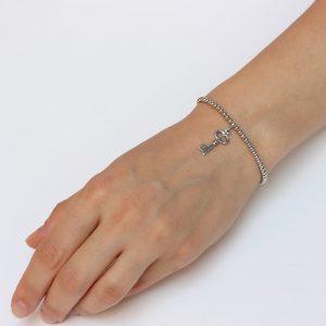 Bratara argint cheie, Corelle, cod BFA005