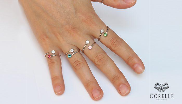 Inele argint reglabile- Corelle- Blog