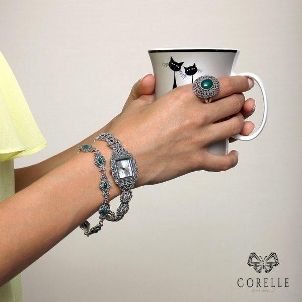 Ceas argint 925, Corelle, cod TRSW005