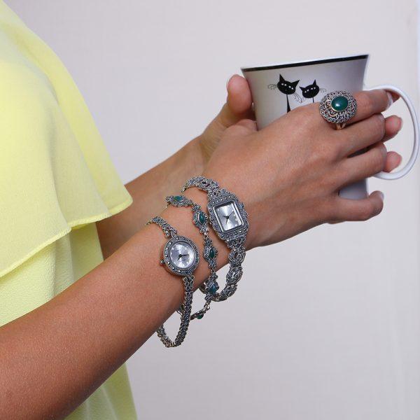 Ceas de argint 925, Corelle, cod TRSW001