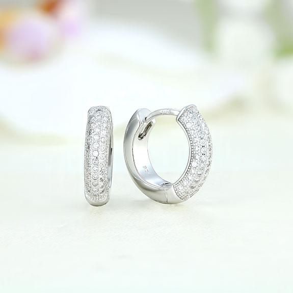 Cercei argint rotunzi cu pietre - ICE0016