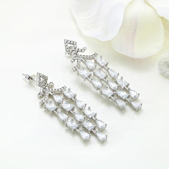 Cercei argint lungi cu pietre - ICE0038
