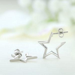Cercei argint steluta stea cu surub ICE0047
