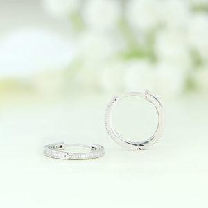 Cercei argint rotunzi cu pietre - ICE0065