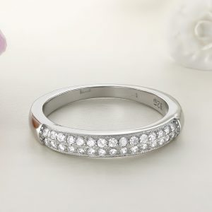 Inel argint cu pietre Semi Eternity - ICR0073