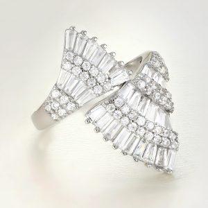 Inel argint Fancy cu pietre - ICR0094