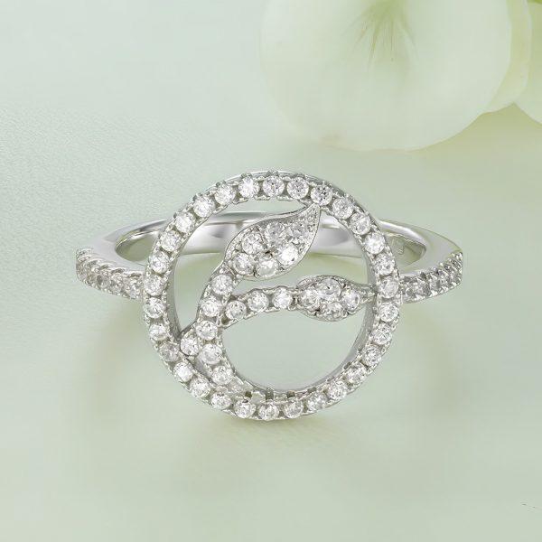 Inel argint cu pietre - Cerc - ICR0105