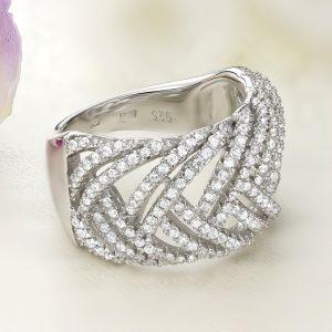 Inel argint Lat cu pietre - ICR0112
