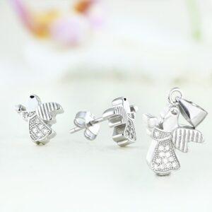 Set bijuterii argint cu pietre Angel - ICS0016