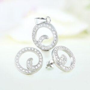 Set bijuterii argint cu pietre Torri - ICS0039