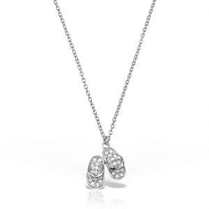 Colier argint cu pietre 49 cm Papucei - MCN0006
