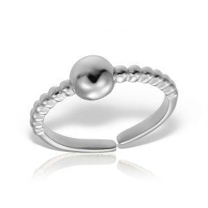 Inel argint reglabil fara pietre Bila - MCR0006