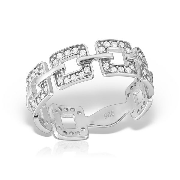 Inel argint cu pietre Eternity - MCR0024