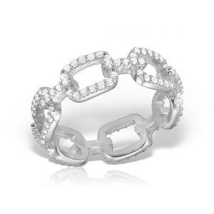 Inel argint cu pietre Eternity - MCR0032
