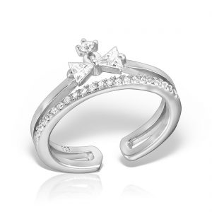 Inel argint reglabil cu pietre Fundita - MCR0040