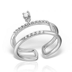 Inel argint reglabil cu pietre - MCR0041