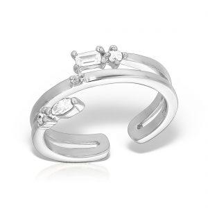 Inel argint reglabil cu pietre - MCR0062