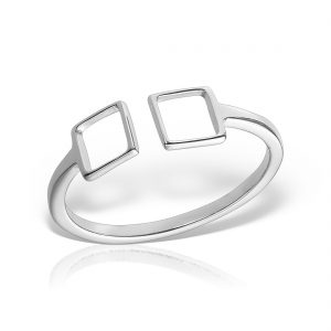 Inel argint reglabil Patrate - MCR0078