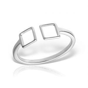 Inel argint reglabil Patrate - MCR0079