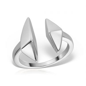 Inel argint reglabil Geometric - MCR0084