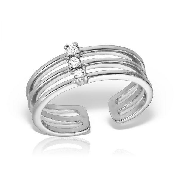 Inel argint reglabil cu pietre - MCR0085