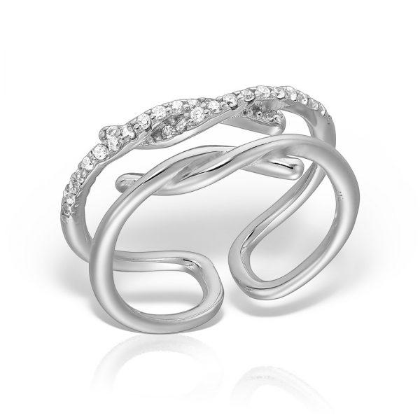 Inel argint reglabil cu pietre - MCR0092