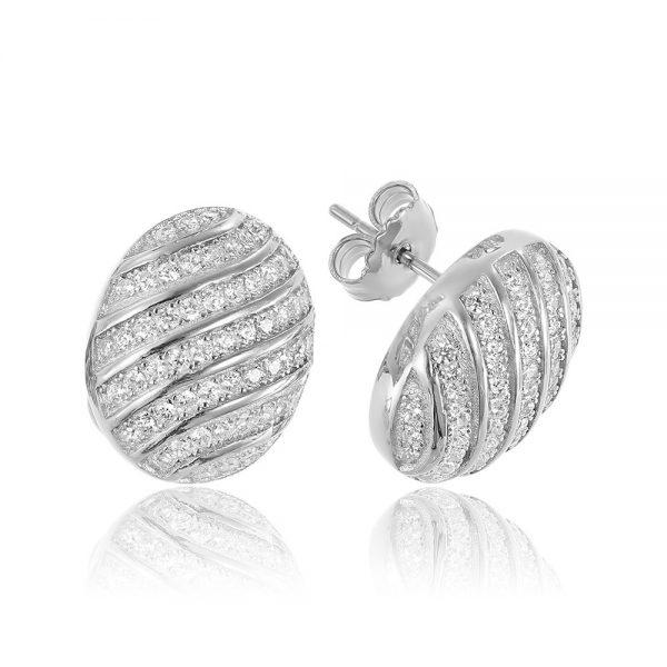 Cercei argint Surub Mici Zirconii TRSE025, Bijuterii - Corelle