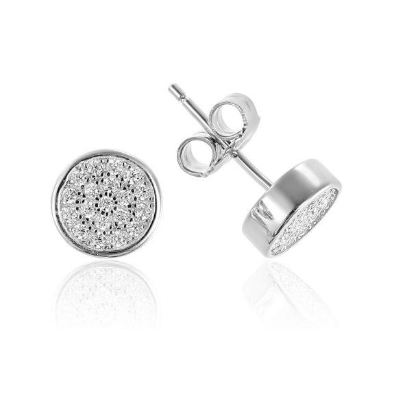 Cercei argint Surub Mici Zirconii TRSE027, Bijuterii - Corelle