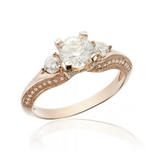 Inel de logodna argint cu 3 cristale centrale TRSR061, Corelle