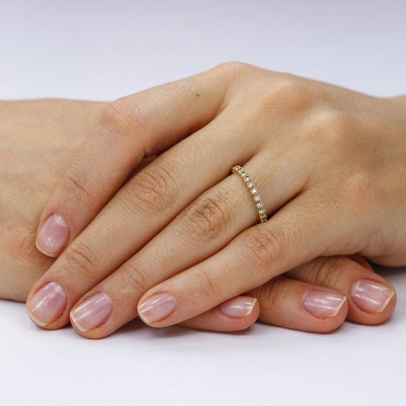 Inel argint Yellow Eternity cu cristale TRSR127, Bijuterii - Corelle