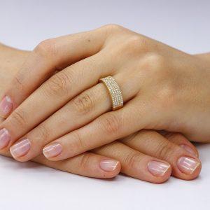 Inel argint Semi Eternity cu cristale TRSR130, Bijuterii - Corelle