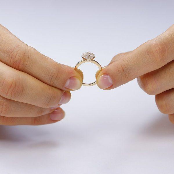 Inel argint Cocktail Anturaj cu cristale zirconii TRSR142, Corelle