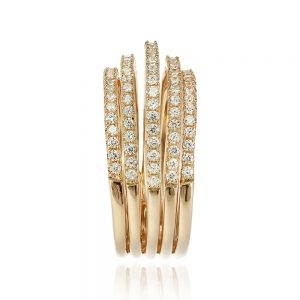 Inel argint Semi Eternity Fancy cu cristale TRSR154, Bijuterii - Corelle