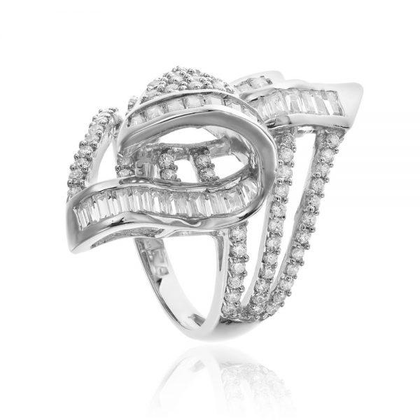 Inel argint Fancy Embroidery cu cristale din zirconii TRSR159, Corelle