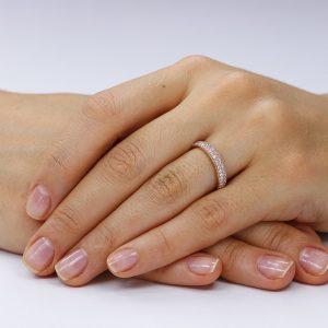 Inel argint Semi Eternity cu cristale TRSR160, Bijuterii - Corelle
