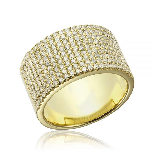 Inel argint Semi Eternity Fancy cu cristale TRSR180, Bijuterii - Corelle