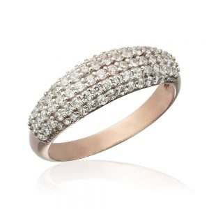 Inel argint Semi Eternity Fancy cu cristale TRSR206, Bijuterii - Corelle