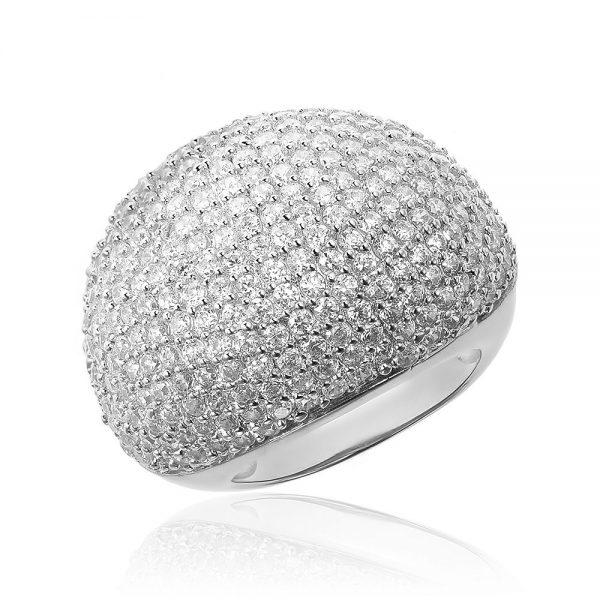 Inel argint Fancy Impressive White cu cristale zirconii TRSR218, Corelle