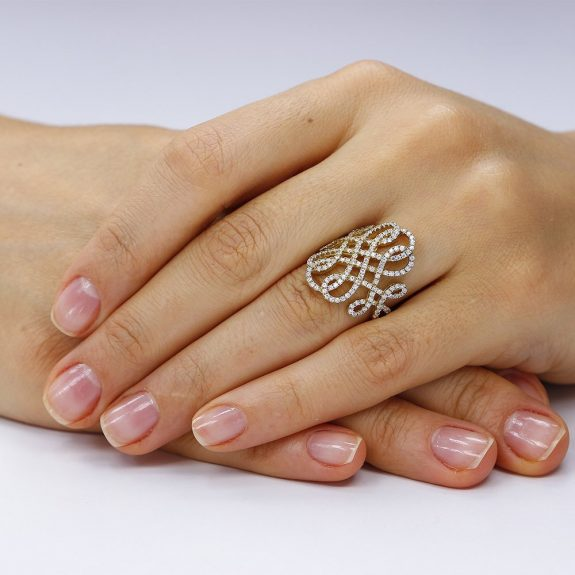 Inel argint Fancy Embroidery cu cristale din zirconii TRSR263, Corelle