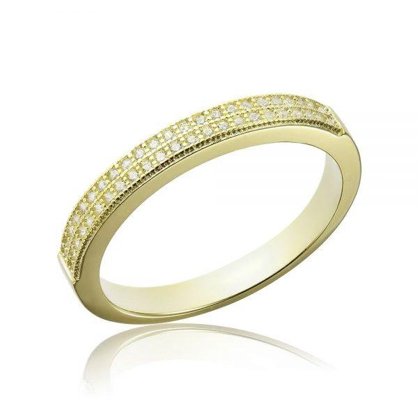 Inel argint Semi Eternity cu cristale TRSR271, Bijuterii - Corelle