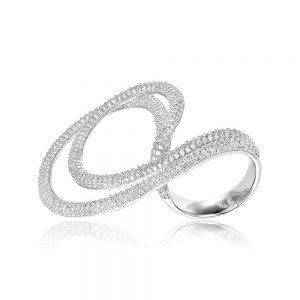 Inel argint Fancy Stylish cu cristale TRSR273, Bijuterii - Corelle